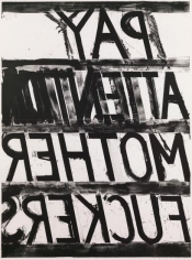 Bruce Nauman, Pay Attention, 1973, Lithograph