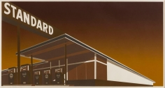 Edward Ruscha, Mocha Standard, 1969, Screenprint