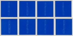 Fred Sandback, Mappe mit 8, 1979,  complete set of 8 linocuts