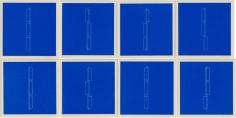 Fred Sandback, Mappe mit 8, 1979, complete set of 8 linocuts