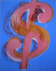 Andy Warhol, $, 1981, Silkscreen on linen