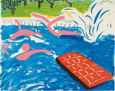 David Hockney, Afternoon Swimming, 1979, Lithograph in color on Arches paper