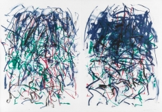 Joan Mitchell, Sunflowers II, 1992, Lithograph on two sheets of paper