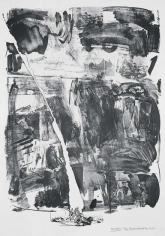 Robert Rauschenberg, Accident, 1963, Lithograph