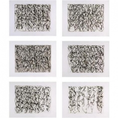 Brice Marden, Cold Mountain Series: Zen Studies 1-6, 1991, Set of 6 etchings with aquatint