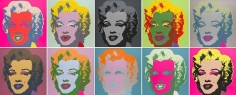 Andy Warhol, Marilyn, 1967, Set of 10 color silkscreens