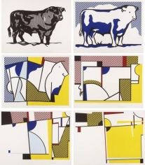 Roy Lichtenstein, Bull Profile Series, 1973, the complete set of six mixed media prints