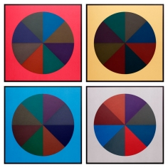 Sol LeWitt, Circles Divided into Eight Equal Parts with Colors Superimposed in Each Part, 1989, Complete set of four silkscreens, 30 x 30 inches (each)