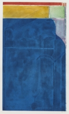 Richard Diebenkorn, Large Bright Blue, 1980, Color spit bite aquatint with aquatint and soft ground etching