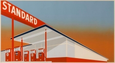 Edward Ruscha, Standard Station, 1966, Screenprint