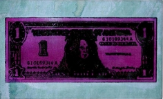 Andy Warhol, One Dollar Bill, 1962, Silkscreen on linen