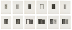 Brice Marden, 12 Views for Caroline Tatyana, 1977-79, Etchings with aquatint
