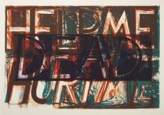 Bruce Nauman, Help Me, Hurt Me, 1975, lithograph