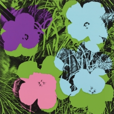 Andy Warhol,Flowers, 1970, Silkscreen, Private Collection,