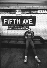 Tseng Kwong Chi, Keith Haring (5th Ave Subway) c. 1984