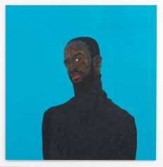 Amoako Boafo, Kofi, 2019, Oil on Canvas
