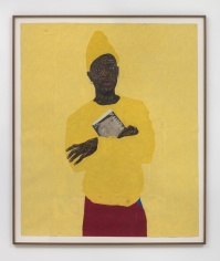 Amoako Boafo, In Yellow with Malcolm, 2019