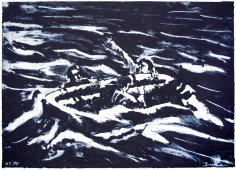 bosman life raft carborundum print