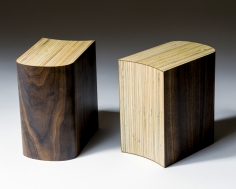 Bookends, 1987 formica on wood