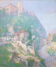 Carl Brandien oil painting of Granada, Spain.