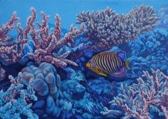 "Nikolina Kovalenko's sold oil painting ""Dreamland."""