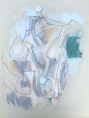 Untitled 1972 abstract pastel by Hans Burkhardt.
