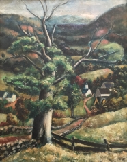 "Arnold Blanch oil painting entitled ""From Lake Hill""."