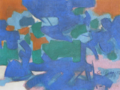 Carl Holty 1955 untitled abstraction painting, HoCa006.