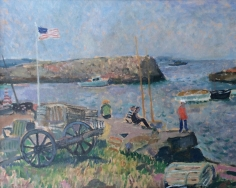 Francois Gall oil painting of Rockport.