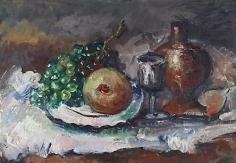 Still life oil painting by Hans Burkhardt.