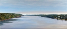 "Tom Yost oil painting ""Walkway Across the Hudson""."