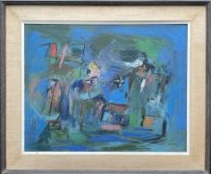 "Frame on ""Subjective Farm Landscape"" by Ralph Rosenborg."