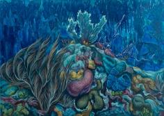 "Nikolina Kovalenko's sold oil painting ""Malachite Hill."""