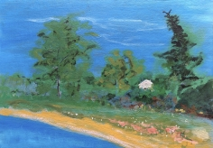 Virtual Video Visits at Caldwell Gallery in Hudson for a Fairfield Porter artwork.