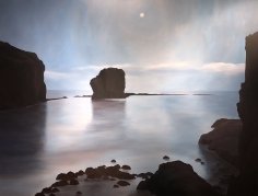 "April Gornik's painting ""Moon Bay""."