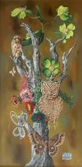 "Aaron Bohrod oil painting entitled ""Tree of Life""."