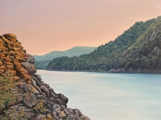 """Tom Yost oil painting entitled """"View from Breakneck Ridge""""."""