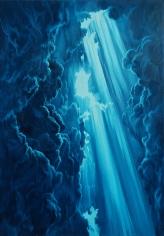 "Nikolina Kovalenko's sold oil painting ""Cloud Canyon."""