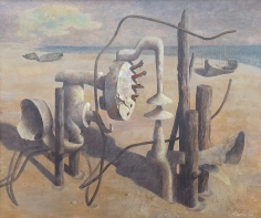 "John Atherton 1946 painting entitled ""Aged Forms""."