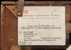 American Federation of Arts label verso Clown Reading.