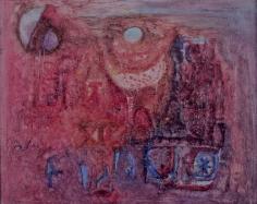 """Ralph Rosenborg oil painting entitled """"Full Moon""""."""