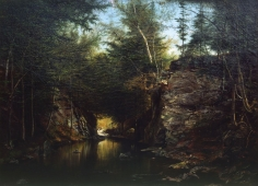 """Sold painting by James Hope entitled """"Crystal Creek""""."""