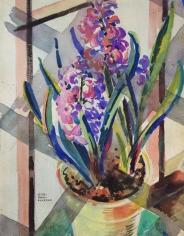 Jessie Bone Charman watercolor painting of hyacinth.