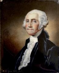 1822 Enamel painting of George Washington by artist William Birch.