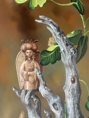 """Detail of """"Tree of Life"""" by Aaron Bohrod."""