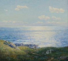 Wilson Henry Irvine oil painting of Monhegan.