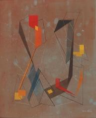 Albert Patecky 1950 rust abstraction.