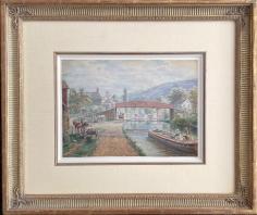 "Frame on ""Delaware & Hudson Canal, Ellenville, NY"" by E.L. Henry."