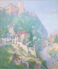 Carl Brandien oil painting of Granada, Spain.