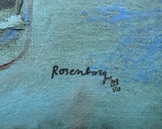 "Signature on ""Subjective Farm Landscape"" by Ralph Rosenborg."